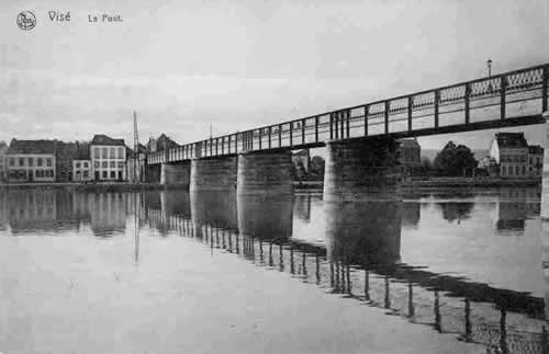 Le pont de Visé avant sa destruction en 1914