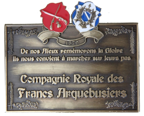 Plaque en bronze
